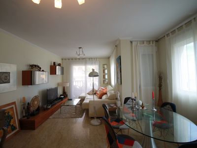 Photo for Apartment with front sea view and park in Dehesa de Campoamor