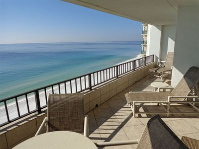 Photo for Gulf Front Spacious 2BR/2BA~Reserved/Covered Parking~Beach Setup Included!