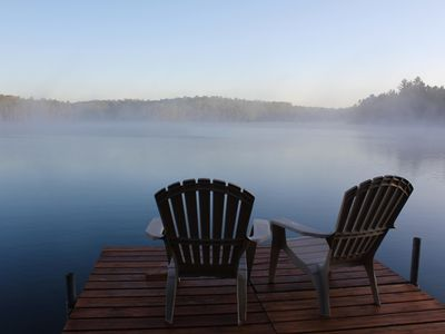Photo for Little Trout Lake Cabin on the pristine Wabana Chain: Views, Wooded, Bunkhouse