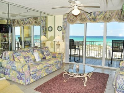 Photo for Beachfront Corner Unit,  Direct Ocean View, 3br/3ba, Sleeps 8, , Bch Svc - gd217