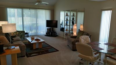 Photo for Beautifully update kitchen in a 3 bedroom villa overlooking the golf course