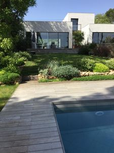 Photo for Contemporary villa with swimming pool in residential area of Montpellier
