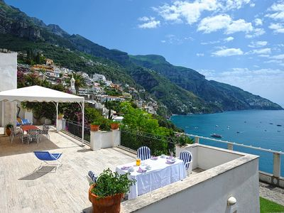 Photo for 5 bedroom Villa, sleeps 10 in Positano with Air Con and WiFi