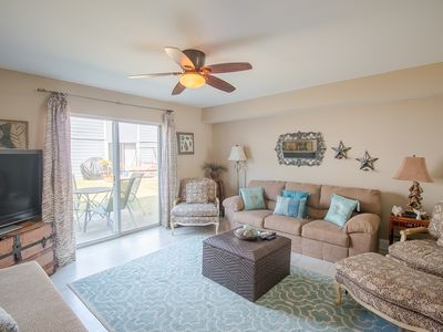 Photo for Comfortable 2 BR Condo near Beach w/ WiFi, Parking & Complex Pool Access