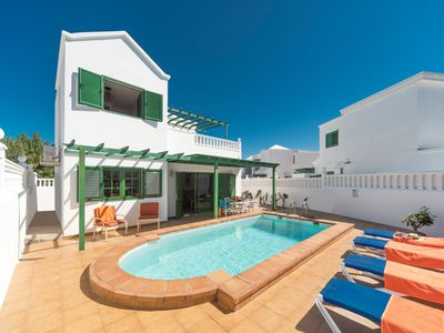 Photo for Villa Alegranza: Heated Private Pool, Walk to Beach, A/C, WiFi, Car Not Required