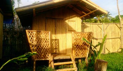 Hand-crafted native style bamboo chalets set in beautiful natural surroundings.