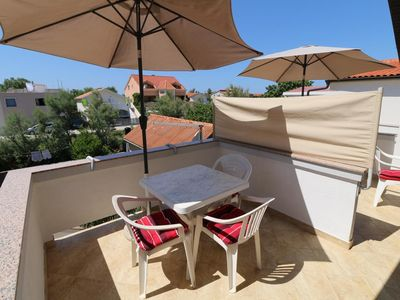 Photo for Studio flat with terrace Nin, Zadar (AS-11402-b)