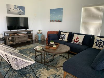 New beach house located in Sea Isle, two blocks from beach.