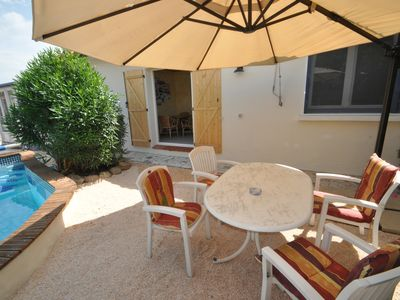 Photo for House with 3 fewos, garden & pool - 4 km from the beach in a quiet location near the village center!