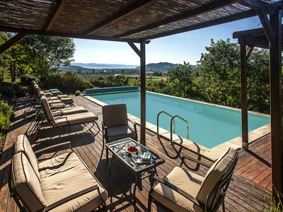 Photo for Fabulous 17 Century Farmhouse with private HEATED pool, games room & aircon