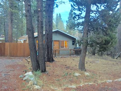 Photo for Pet Friendly cozy remodeled & upgraded 3bd/2bth cabin, large fully fenced lot.