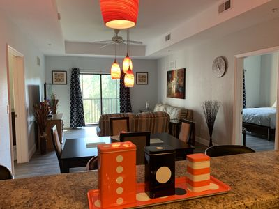 Photo for Wyndham Resort 1700 S.F. 3 Bedrooms Condo #303, 5 miles from Disney!