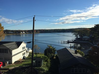 Photo for Beach town cottage with breathtaking views of the Niantic River