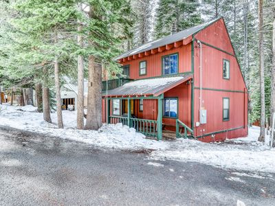 Photo for Updated home on quiet street w/ gas fireplace, shared hot tub, pool, & more!