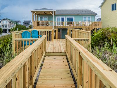 Photo for GREEN DOLPHIN: 4 BR / 2 BA oceanfront in Topsail Beach, Sleeps 8