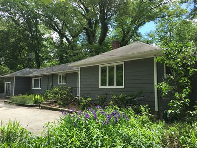 Photo for River's Edge Cottage- 30 Acres with Pool, Farm, River, Woods, Trails, near Beach
