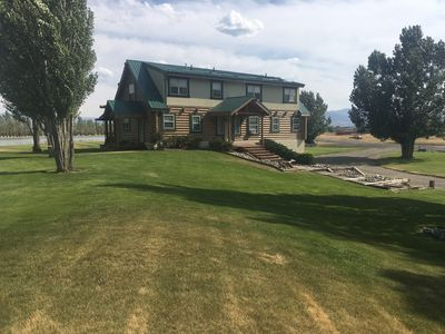 Majestic Log home on Private Lake- Close to Fly Fishing,  Swimming & Hiking