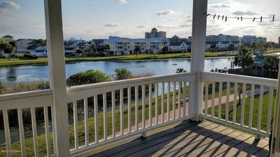 Photo for Lake Waterfront Townhome with Great views and short walk to Beach, Shopping and