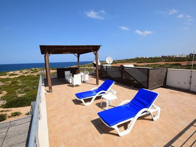 Photo for High class penthouse with a huge terrace, new furnished, directly at the sea