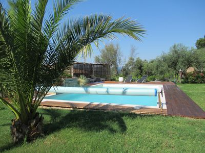 Photo for L'Olivier Gite new 3/4 pers pool, quiet near the beaches