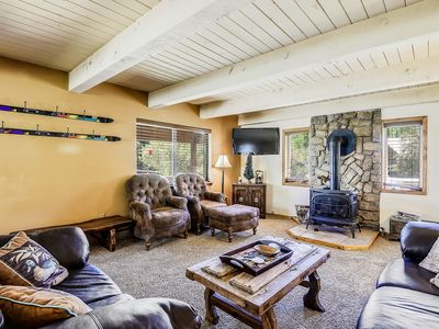 Photo for Large, riverfront home w/ furnished deck & riverside firepit - minutes from town