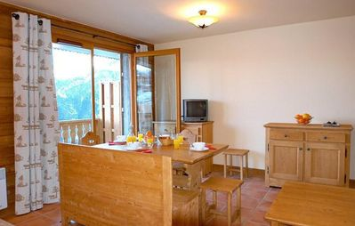 Photo for Surface area : about 24 m². 1st floor. Orientation : North. Living room with bed-settee