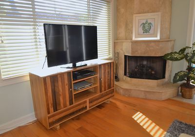 """Open Living Area Offers 60"""" LED High Definition TV + Entertainment Center..."""