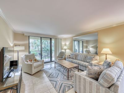 Photo for A quiet beach getaway w/ pools, a hot tub, tennis courts, & a private patio