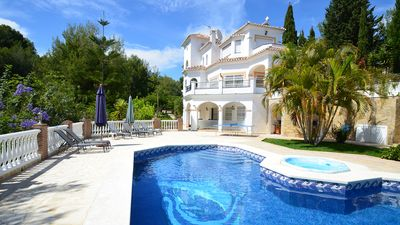 Photo for Villa sleeps 8 + 2. Private pool with Power Swim, Jacuzzi & Outstanding Gardens