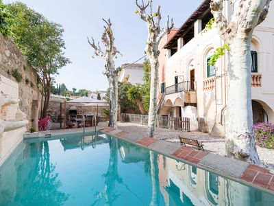 Photo for Charming mansion w pool, sea view 20 mins to BCN
