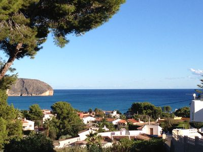Photo for Holiday house in Moraira with beautiful sea views, private pool, internet, A / C