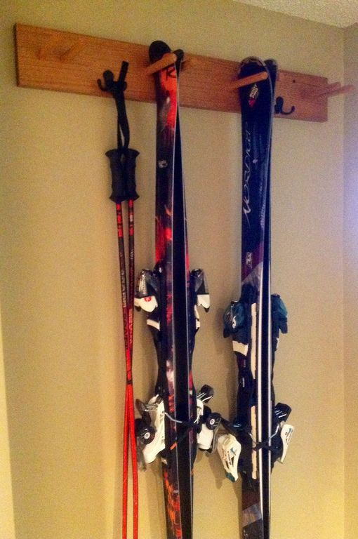Ski Storage For Eight People Just Inside The Doors.