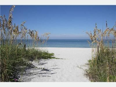 The white sand beach and Gulf of Mexico just steps from your door