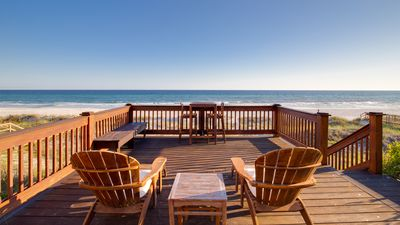 Photo for Directly On The Beach! Deck Space For Sunbathing! Sunroom!