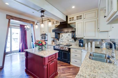 Upgraded kitchen with custom detailing throughout
