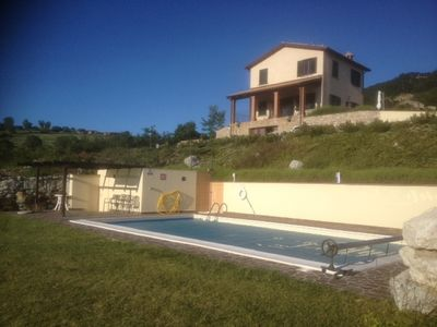Photo for Three bedroom, three bathroom detached South facing  villa with private pool