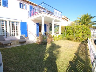 Photo for Wide house with WIFI , a terrace, a garden and a 12m mooring
