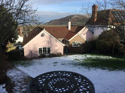 Photo for Family & dog friendly 4 bed cottage with sea views, Porlock village, Exmoor