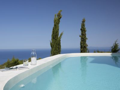 Photo for Brand new Eco-Friendly villas-Chlorine Free Private Pool, BBQ & Amazing seaview