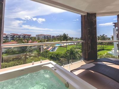 Photo for Ocean View Golf Course Luxury Condo - Buena Vida