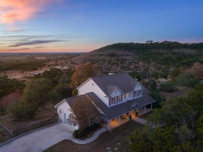 Photo for Stunning Hilltop Sunset View, 5 Private Acres, Walk to Blue Hole Trail!