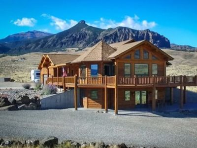 Photo for Log home with 360 mountain views!