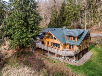 Photo for Log Home on Nehalem River 1500sf lower level is all yours.  Fish, hike, hunt.
