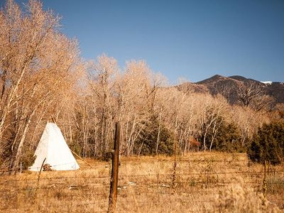 Photo for Tewa Glamping Tipi - One Bedroom Camping, Sleeps 4