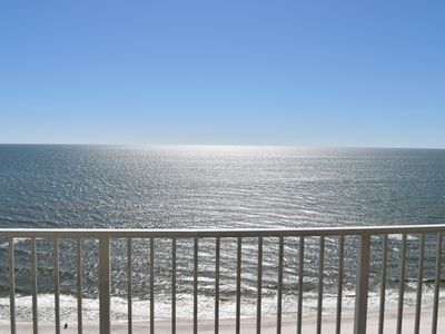 Photo for Gulf Front unit with Spacious Balcony, Free Wifi, Kiddie Pool/ Onsite Parking