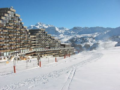 Photo for Ski In Ski Out Apartment Overlooking the ski resort of La Plagne