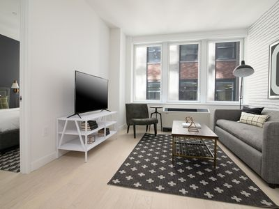 Photo for Sonder | Wall Street | Relaxed 1BR + Kitchen