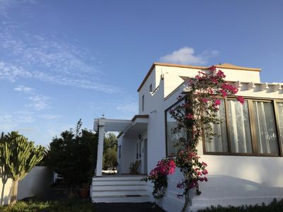Photo for Villa with pool and sea views, restaurants and bakery within walking distance