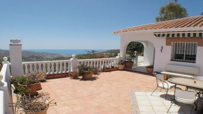 Photo for Tranquil Villa near Torrox Pueblo and Nerja with mountain and sea views