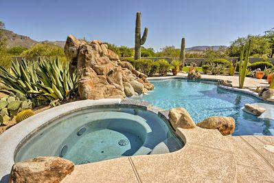 Plan a relaxing trip to this exquisite Cave Creek vacation rental house!